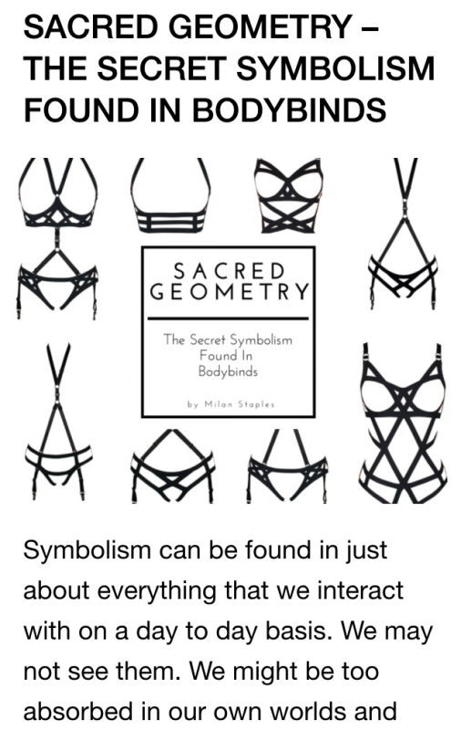 Bodybinds sacred geometry