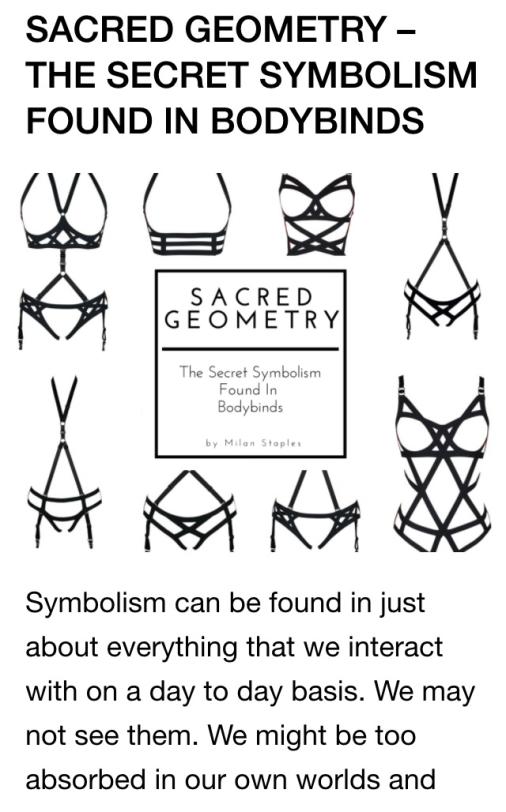 Bodybinds sacred geometry