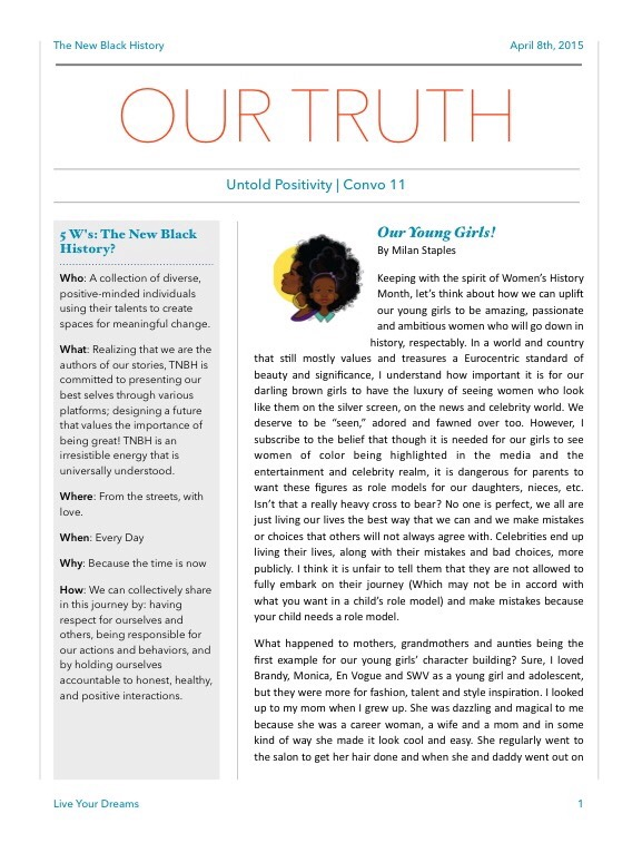 Our Truth Newsletter April 2015